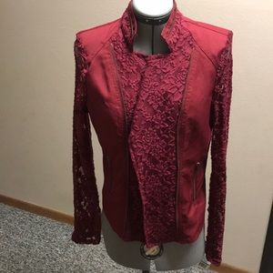 Red Snap Lace Jacket